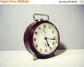 ON SALE Vintage Junghans Alarm Clock 1950s