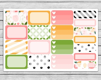 Bella Rose Assorted Boxes Planner Stickers