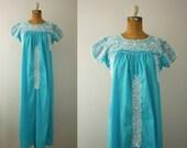 1970s oaxacan dress   vintage turquoise mexidress