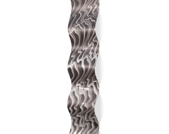 Wavy Metal Art 'Polar Wave' by Nicholas Yust - Modern Wall Sculpture Eclectic Home Accent on Metal