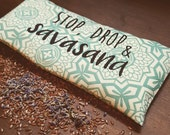 Stop, Drop & Savasana Yoga Eye Pillow with Lavender and Flax Seed