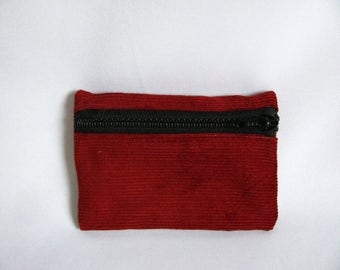 Small pouch- Burnt orange corduroy
