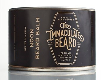 Beard Balm NOON,  All Natural,  2 oz, Essential Oil, Cedarwood, Bergamot, Beard conditioner, Immaculate, Beard Butter, Father Gift, Dad gift