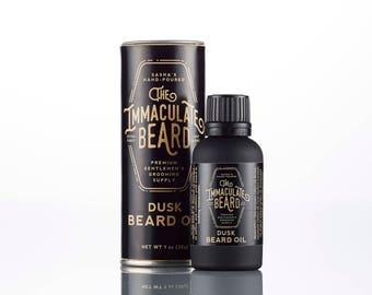 Beard Oil DUSK, All Natural Beard Oil, All Natural, Beard Care,  Vanilla, Sandalwood, Essential Oil, Beard Conditioner, Immaculate, Father