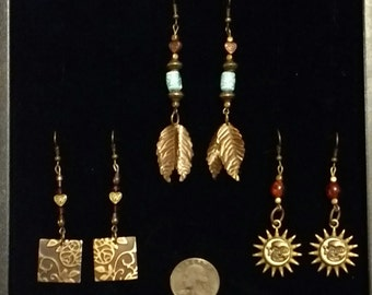 Handcrafted Artisan One-of-a-Kind! Vintage Steampunk Fashion Style Hoop Earrings! Designed by LCG