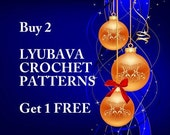 Christmas Gift-Special Offer-Buy Any 2 PDF Crochet Patterns Get 1 Free Pattern-DIY Crafts-Crochet Gifts-Merry Christmas From Lyubava Crochet