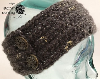 Exquisitely Yours Winter Headband - Crochet Pattern in 3 Adult Sizes