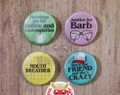 Stranger Things buttons - pinback or magnets