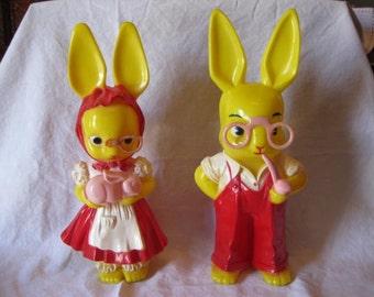 1950's Knickerbocker Plastic Rabbits #200