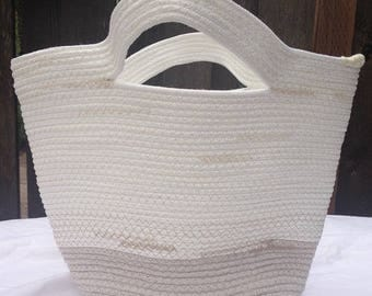 Rope purse, coil rope bag, purse, tote, neutral/beige/natural