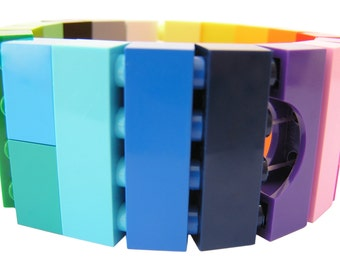 SWAG Hip Hop colorful bracelet - made from LEGO (R) bricks on stretchy cords