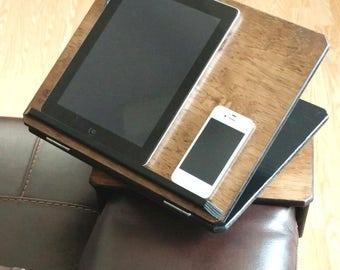 Swivel Adjustable Angle Armrest Table iPad iPhone Tablet Laptop Kindle Smartphone Armchair Table