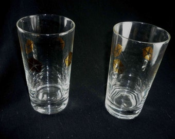 2 Chrysler Logo Tumblers or Water Glasses 1970s Vintage Advertising Promotional Items