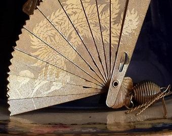 Vintage Oriental Fan Pendant