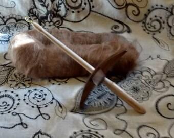 Turkish drop spindle  Medium Walnut Arms Maple Shaft