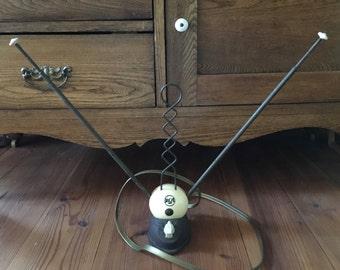 Vintage Antenna, Mid Century,  T .V. Antenna, Telescoping, Electronics, 1950's, Home Decor, Television Antennas, Rabbit Ears Antenna, T.V.'s