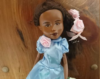 The Homeschooling Doll, by Mirthitude, a repaint makeunder + ooak