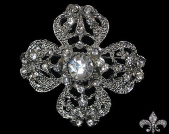 Rhinestone Brooch Pin - Rhinestone Crystal Brooch - Rhinestone Brooch - Enchanting Brooch