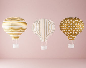 Hot Air Balloon Lanterns, Paper Lanterns, Wedding Lanterns, Paper Party Lanterns, Party Decorations,  Hanging Lanterns, Wedding Decorations