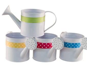 Watering Can Planters, Planters, 4 Bridal Shower Centerpiece Pots, Baby Shower Flower Pots, Centerpiece Pots, Party Containers