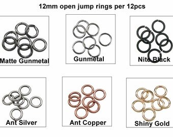 12mm Open Jump Rings per 12pcs