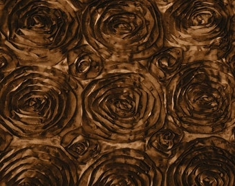 Satin Rosette Brown 52 Inch Fabric by the Yard - 1 yard