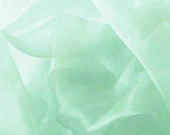 Crystal Organza Tiffafy Blue 58 Inch Fabric by the Yard - 1 yard