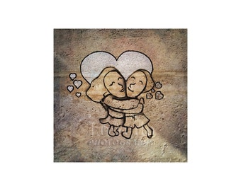 Love in Paris Photo, Street Art, Valentine's Day, Couple, I Love You, Anniversary Gift, Young Love