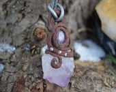 Amethyst Forest Spirit Necklace with Glow in the Dark Amethyst