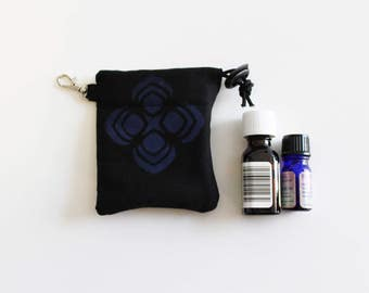 Soft Padded Interior Drawstring Pouch Bag Clip to Hold Glass Items