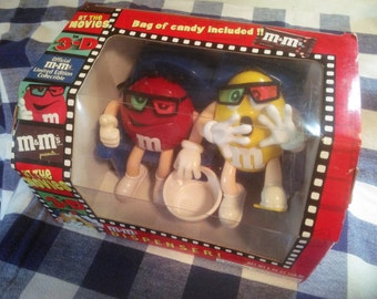 M&M Dispenser - Candy Dispenser - At The Movies In 3-D Candy Dispenser - Limited Edition