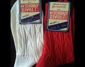 Two pairs Vintage cotton socks