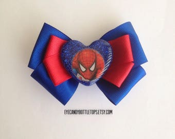 Spiderman Resin Hair Bow