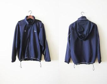 90s Windbreaker / FILA Windbreaker / Hiking Jacket / Hip Hop Clothing / Sports Jacket