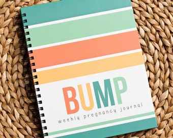 Bump Book™ - Pregnancy Journal - Pregnancy - Baby Book - Modern Baby Book - Neutral