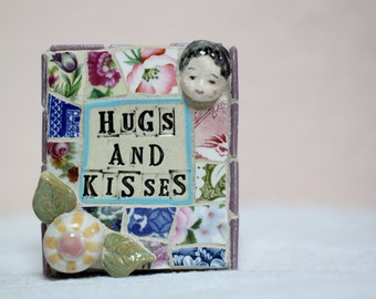 HUGS AND KISSES, mosaic art