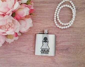 Personalised hip flask, hip flask personalised, personalised flask, flasks for girls, pocket flask, etched flask, engraved flask,