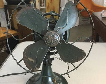 Industrial Vintage Early GE Fan- Free Shipping