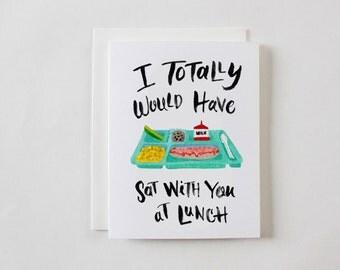 Lunch Tray School Greeting Card