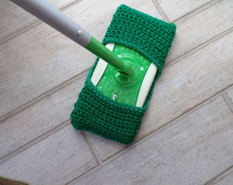 Crochet Swiffer Pad/Cover, Cleaner, Blue Acrylic, Hand Crochet, Cleaning, Reusable, Hand Made, Home, Cleaning Supplies
