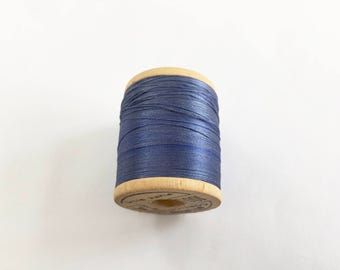BELDING CORTICELLI - Vintage Thread - #6225 Navy Blue - Pure Silk - 100 yds - Embroidery Ribbonwork Fly Tying Size A