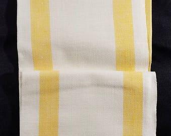 Vintage Linen? Yellow/White Dishtowel