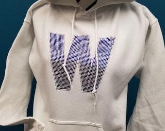 FLY THE W - Cubs Win Rhinestone Hooded Sweatshirt