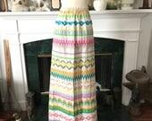 60s Embellished Cotton Summer Skirt
