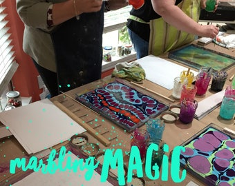 Marbling Magic - July 8 (One January Day @ Home Workshop)