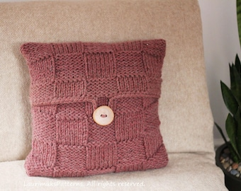 Knitting PATTERN pillow - Rouille cushion cover pattern, homedecor patterns  - Listing53