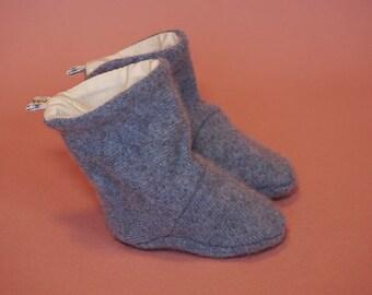Oppi Boots - Hazy bluebells cashmere knitboots