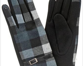 Shelle's Tartan Texting Gloves, Plaid Gloves,  With silk texting Tips, Tartan Gloves, Winter Gloves