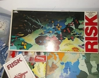 Risk Game Vintage, Vintage Board Games, Vintage War Game, War Games, conquest game, Parker Brothers game, Vintage Toys, Toys