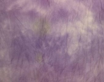 "Hand Dyed 14 Count Aida in Purple Waves 14"" X 17"""